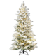 6FT Green Artificial Christmas Tree with Flashing Multicolored LED Lights & Top Star, Hinged 230 Branches Tips Xmas Tree
