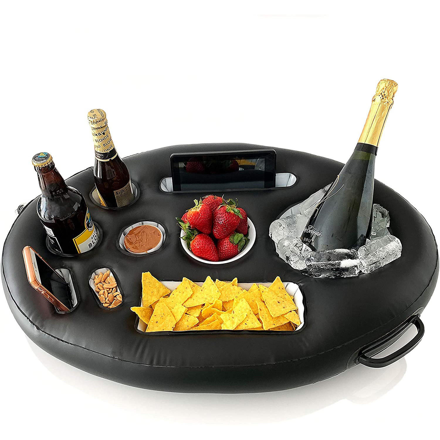 Premium Floating Drink Holder Beach & Outdoor Cup Holder Fun, Versatile & Portable Serving Bar