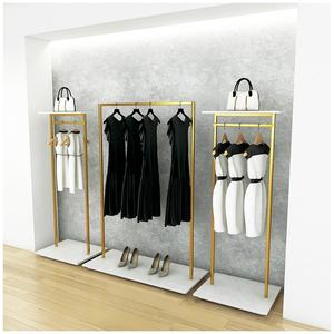 Boutique Clothing Shop Design Steel Garment Rack Clothes Display Stand for Shop