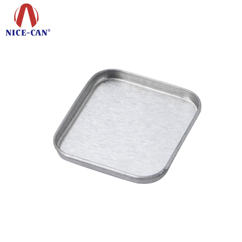 Cosmetic square eye shadow tin pan