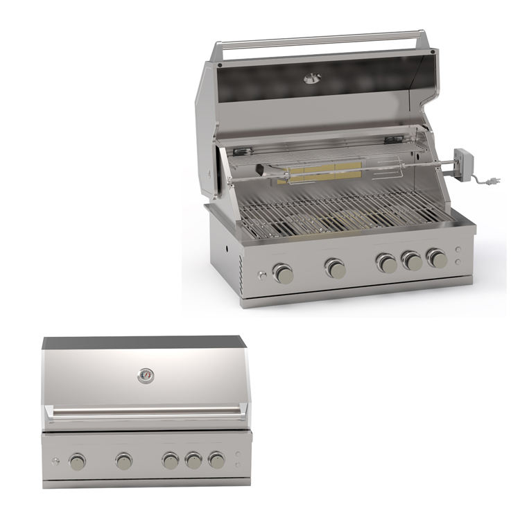 CSA [ Grill ] Grill Gas Grill Cheap 304 Stainless Steel BBQ Island Gas Grill