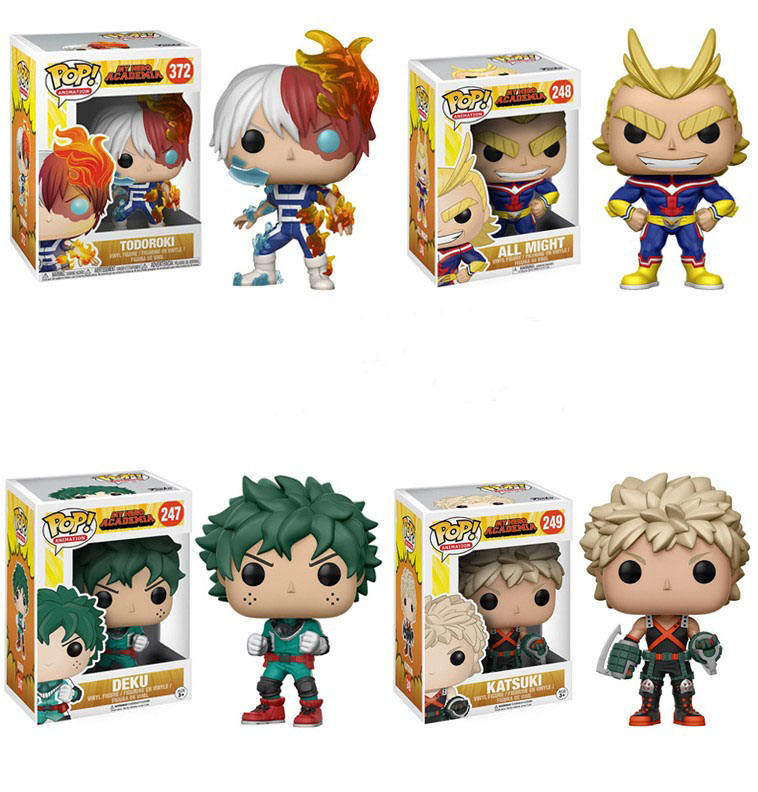 Wholesale Custom Q-version Japanese Anime Figurine My Hero Academia PVC Figma Pop Action Figure Model Toys