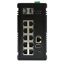 KY-CPG1002 ITS Industrial Ethernet, 10 Port Gigabit Switch, Temp Hardened, PoE++