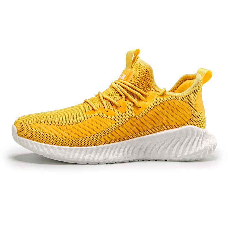 Custom New 2020 Bright yellow Designing Indonesia Malaysia Sport Shoes