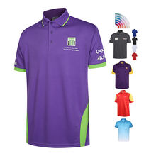 custom Eco-friendly 100% Polyester Cotton breathable short sleeve blank polo shirt