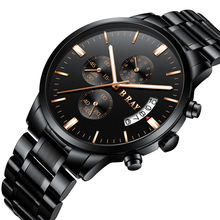 B RAY 9001 2019 New Watches Men Luxury Brand Chronograph Men Sports Watches Waterproof Full Steel Quartz Men's Watch