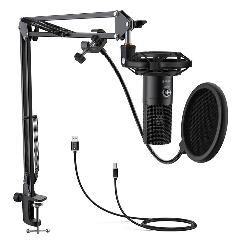 Fifine T669 Nieuwkomers Kit <span class=keywords><strong>Drum</strong></span> Microfoon Kit Condensator Studio Usb Condensator Microfoon