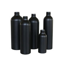 E-better Factory direct matte black 250ml 500ml 750ml aluminum  bottle for cosmetic shampoo gel cleaner