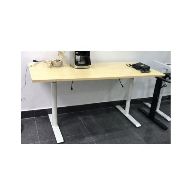 WP office ergonomic electric standing desk adjustable table height sit and standup desk frame metal legs 2stage dual motor