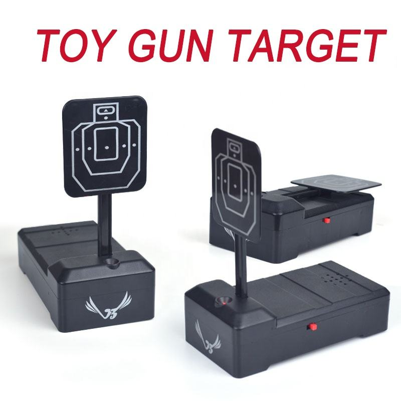 2019 Amazon hot selling Electric Shooting Toy Target, battery operated toy gun target game with light and sound