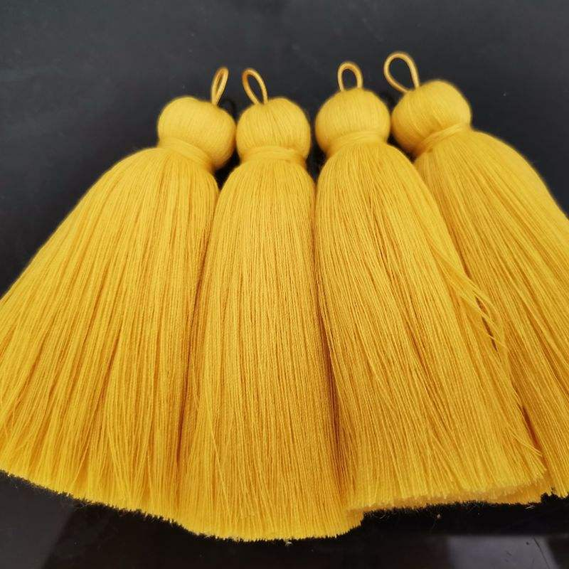NANA free sample 700 colors large cotton tassels ,custom 8cm cotton tassel with 1.5cm diameter