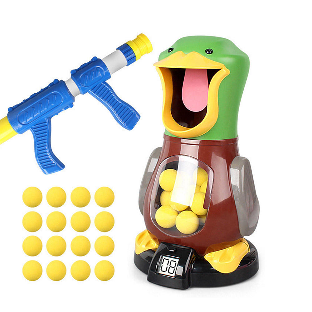 Indoor Duck Target Electronic Creative Shooting Game Air Powered with Sound For Kid Game Stimulating Toy
