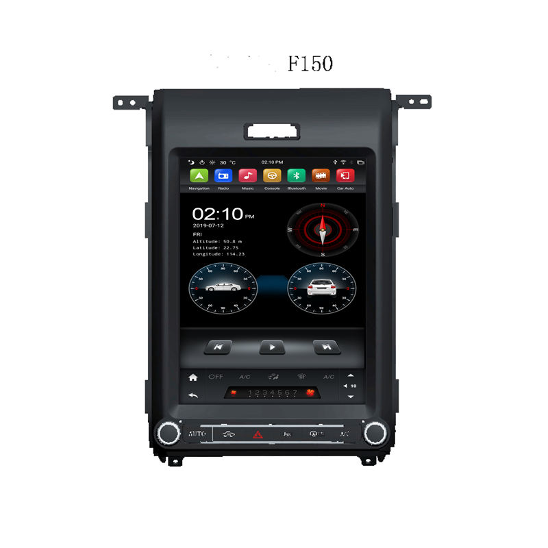 Klyde Tesla Screen Android PX6 64G Auto Video Voor F150 2013 2014 Auto Stereo Radio Gps Nav Head Unit audio Dsp