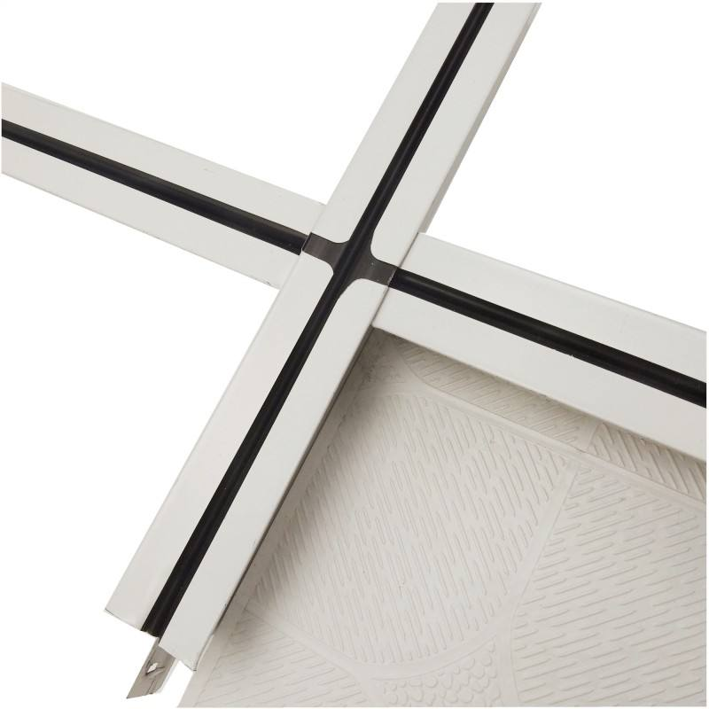 Fancy galvanized wide-band groove fut black line/ceiling t grid/32height