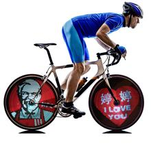 Customized OEM programmable bicycle LED/ attractive outdoor bike spoke wheel lights/rechargeable bicycle wheel lights
