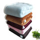 Home Blanket Comfortable Super Soft Double Layer Solid Flannel Sherpa Fleece Throw Blanket