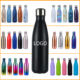 Stainless Bottles Stainless Drink Bottle Wholesale 2020 Eco Friendly Matte Black Stainless Steel Kids Drinking Water Bottles Metal Vacuum Flask