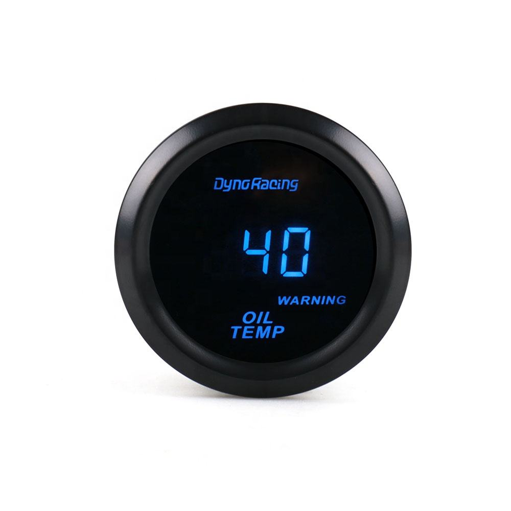 """Oil Temp gauge 2"""" 52mm Digital 40-150C Oil temperature meter Blue LED with sensor car meter"""