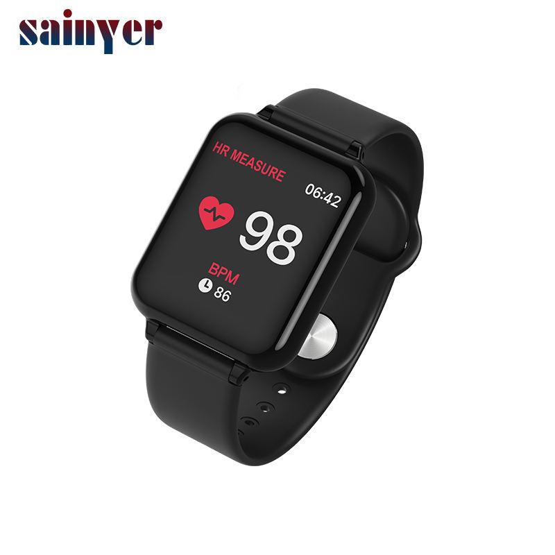 B57 la presión arterial y Monitor de ritmo cardíaco impermeable de contador de paso de silicona reloj inteligente reloj ODM