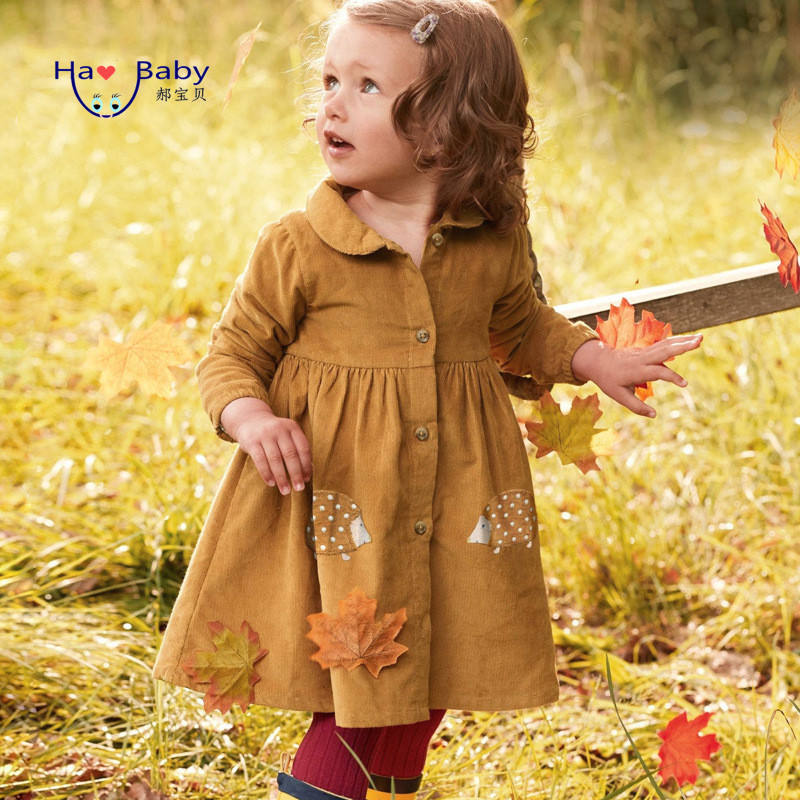 European And American New Style Foreign Trade Children's Clothing Wholesale Pure Cotton Long-Sleeved Spring And Autumn Dress