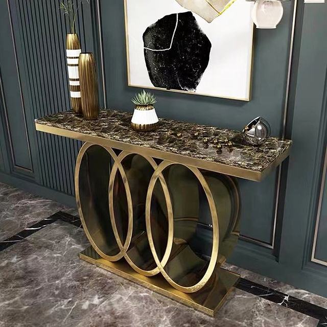 Top Selling Living Room Furniture Console Table Crushed Diamond Hallway Table for Home Hotel