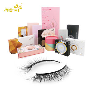 Hollyrenl Fake Lashes Fashion Style 3D Faux Mink Eyelashes Private label Eyelash Box