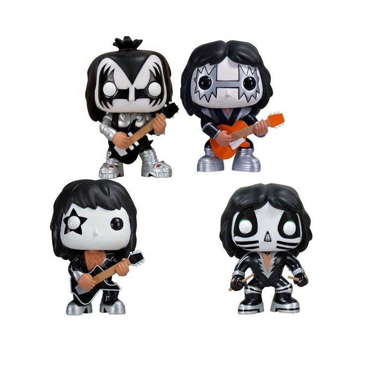 Funko Pop KISS Band THE DEMON CATMAN STARCHILD SPACEMAN doll Cute action Vinyl Figure Collection Model Toys wholesale