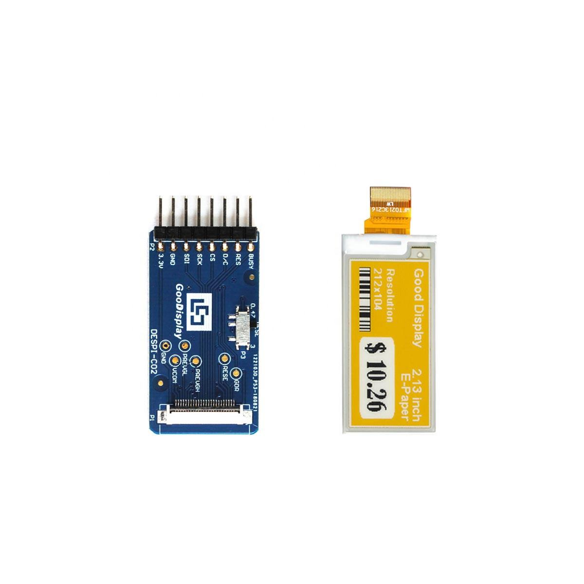 GooDisplay 2.13 <span class=keywords><strong>צבע</strong></span> תצוגת <span class=keywords><strong>epaper</strong></span> עבור STM32 עם מחבר לוח SPI <span class=keywords><strong>Epaper</strong></span>