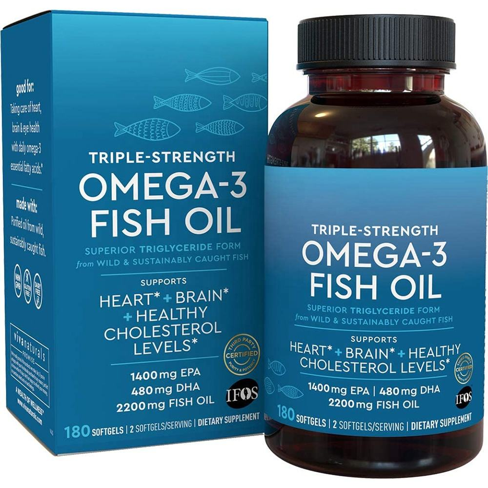 Natural Omega 3 Wild Fish Oil Softgels mit EPA DHA für Joint Eyes Brain Skin Health