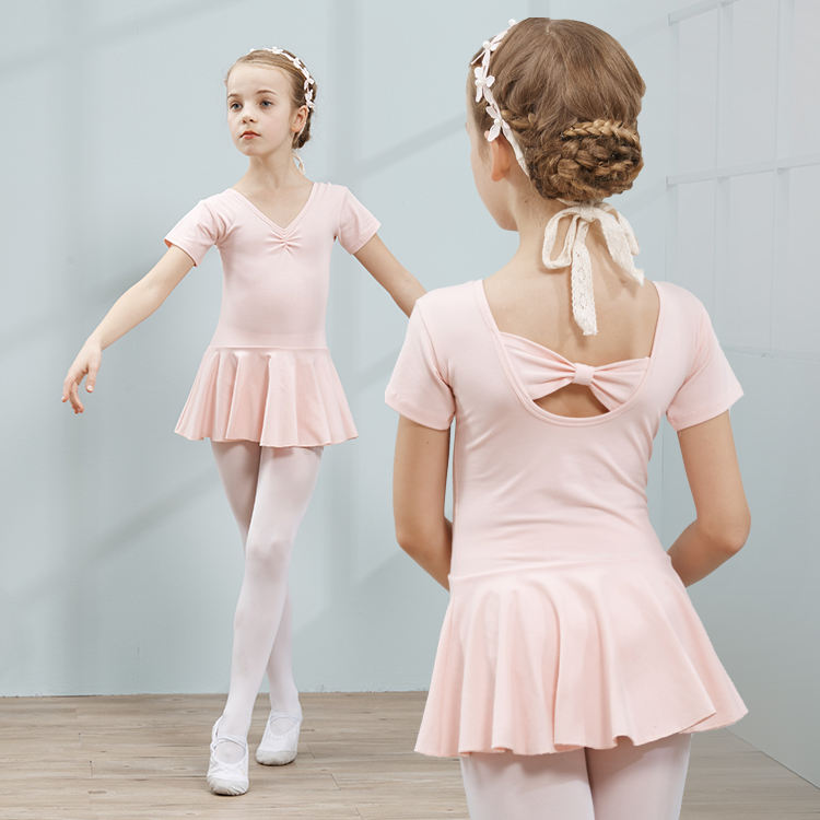 Cute Bow-knot Stage Kids Ballet Skirt Dress Dance Costumes Dress Girls Dancing Mini Skirts