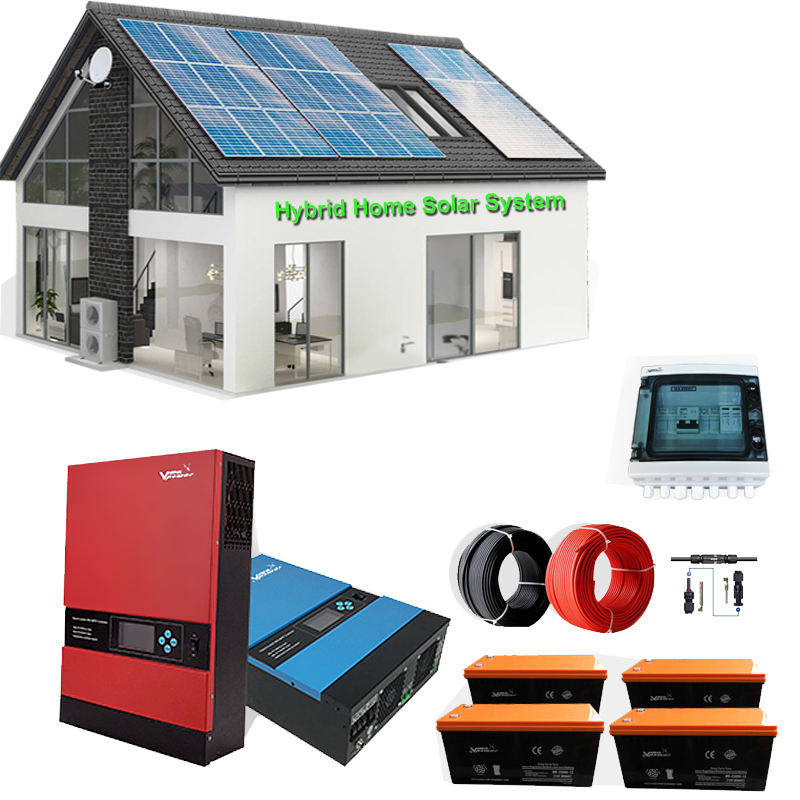Vmaxpower 5kw Off Grid Hybrid Home Solar Power Systems Home Complete Solar Energy Systems Solar Powered System For Home