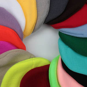 OEM Cheap Plain Winter Hat Cotton Knitted Blank Beanie Embroidery Cap