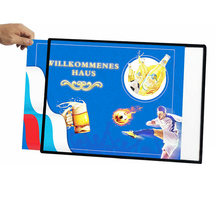 NO MOQ Super Bright Slim lightbox Aluminum Frame Advertising Led Light Box
