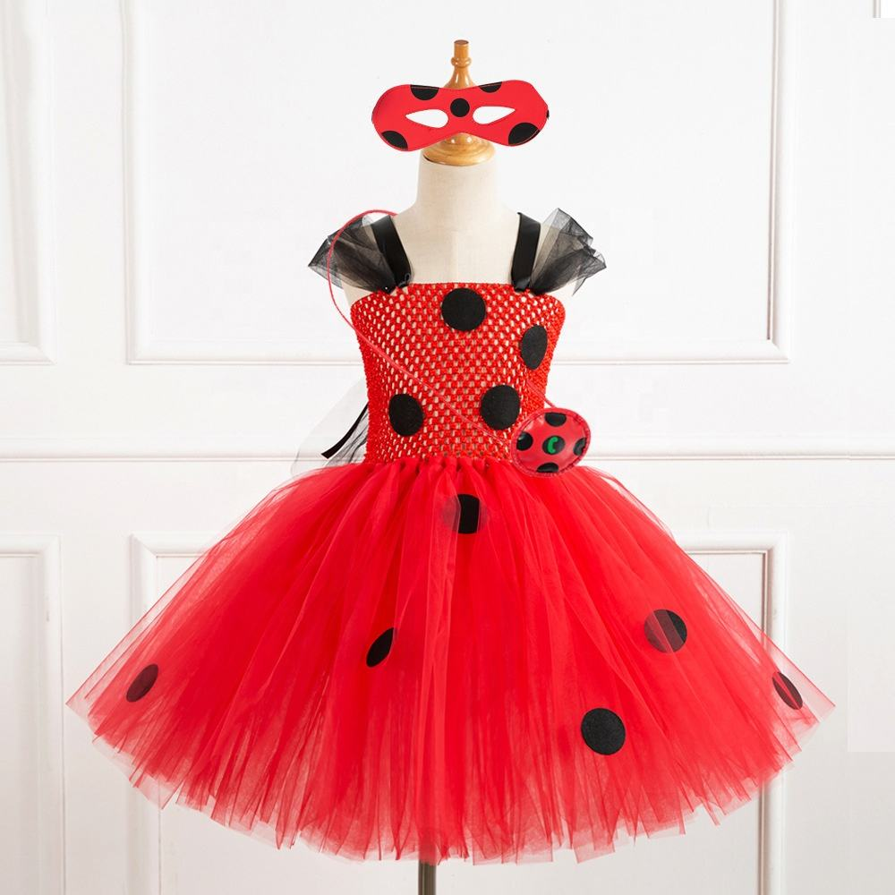 2020 Princess Style Latest Style Kids Tutu Dress Birthday Baby For Party Fancy Dress Ladybug Costume Kids