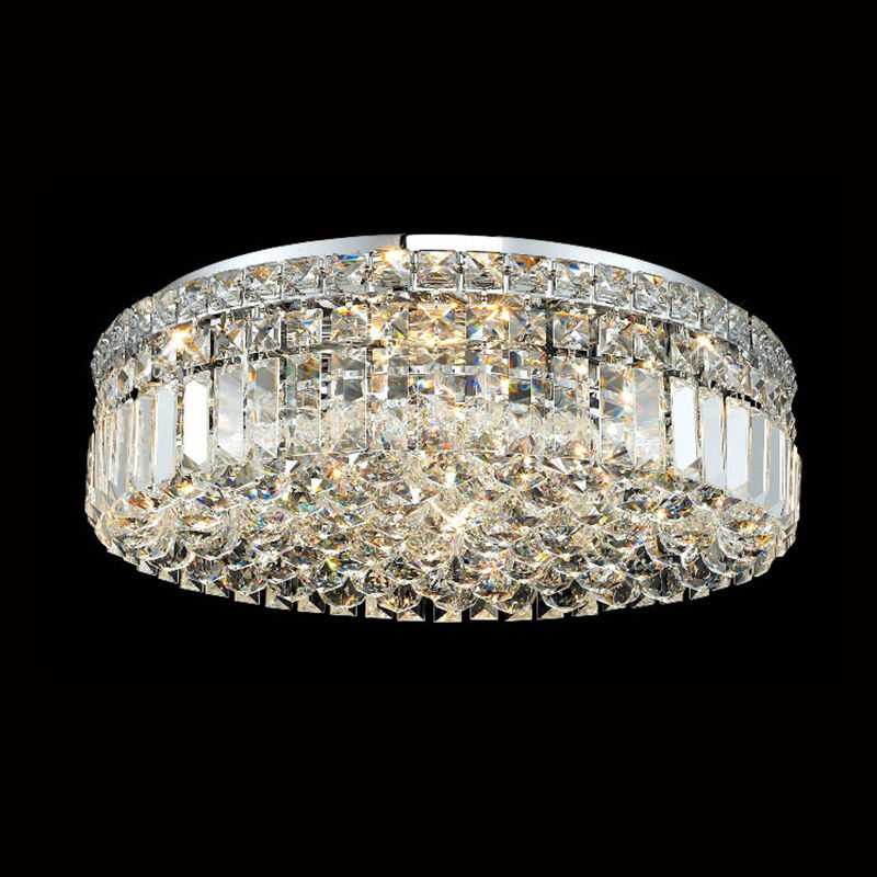 Modern Crystal Pendant Flush Mount Drop Ceiling Light Fixtures