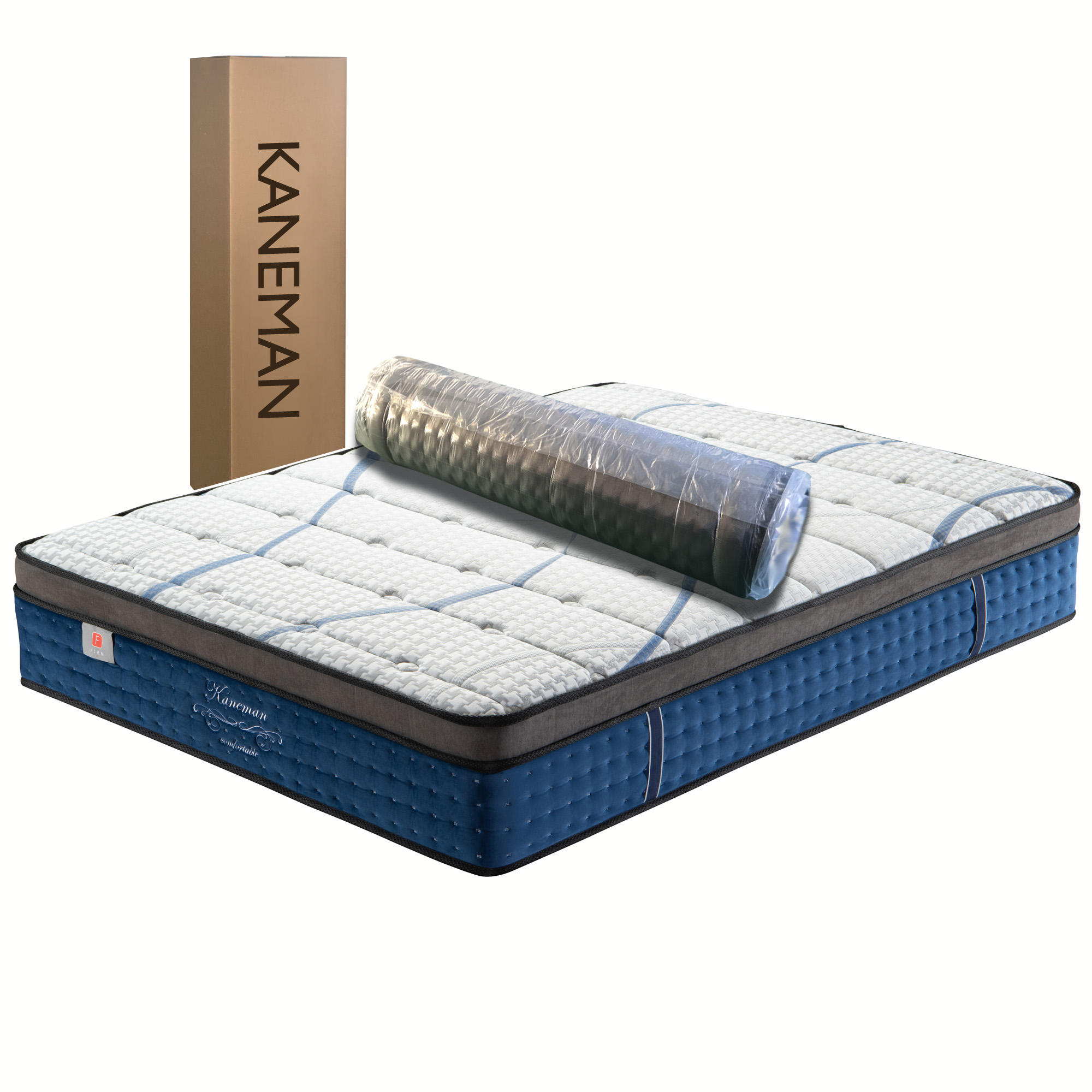 Top Selling Dunlop latex foam fold compress box package pocket spring coil mattress