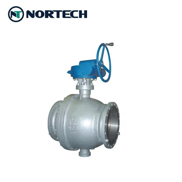 Natural Oil Gas Firesafe Trunnion Mounted Ball Valve with ATEX CERTIFIED