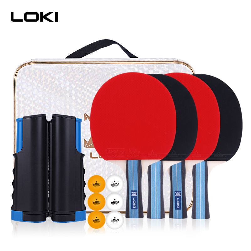 LOKI Wholesales available new 6 star good quality professional table tennis paddle table tennis racket