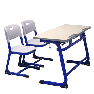 School Furniture two Seats Desk And Chair Comfortable University DT-601