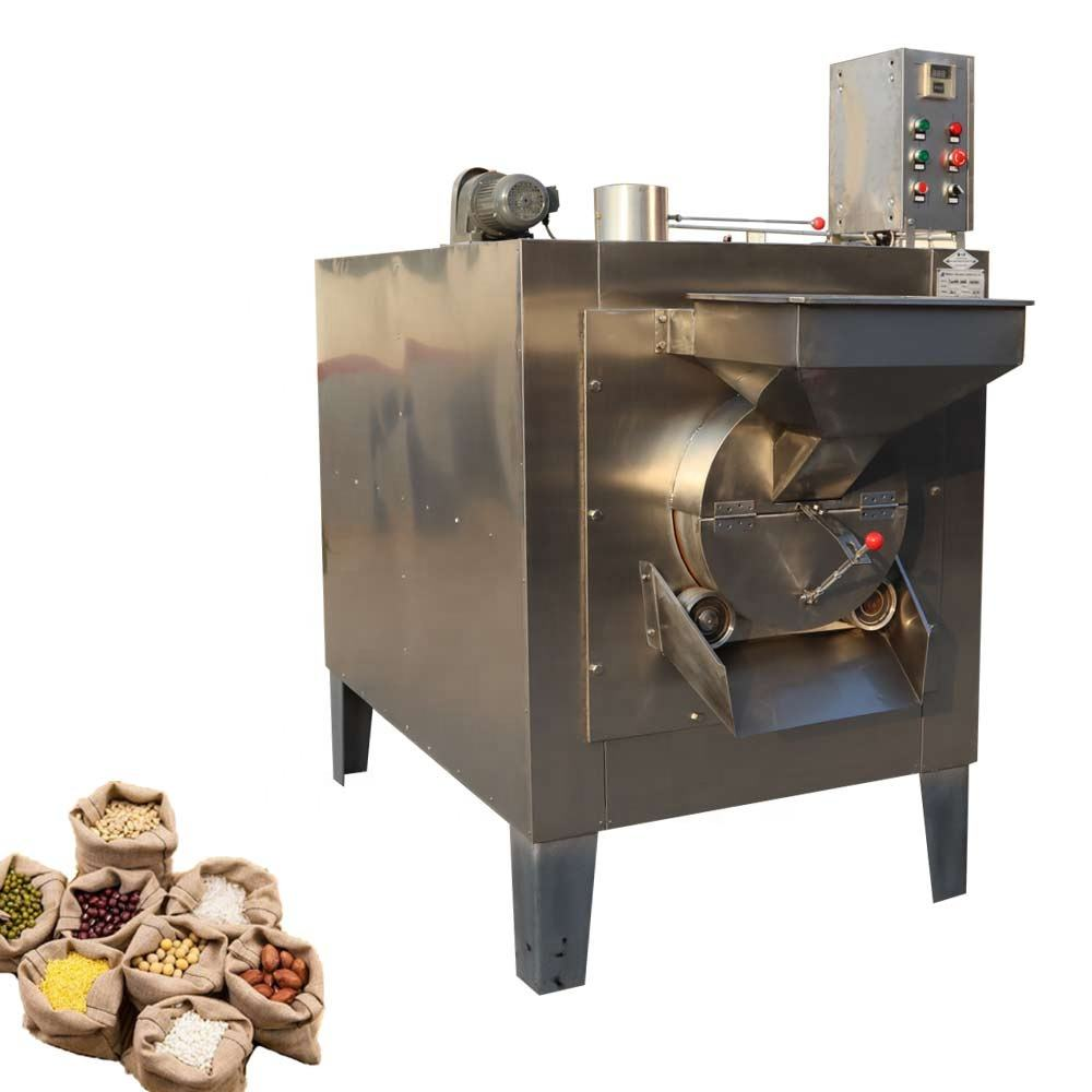 Lehao multiuse temperature control gas or electric heating millet cashew nut spice sesame seeds roasting machine