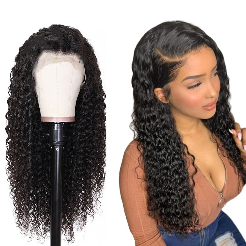 Cheap Customized Wig With 150 180 300 Density on Your Request, 4*4 13*4 Lace Frontal Brazilian Virgin Human Hair Wig