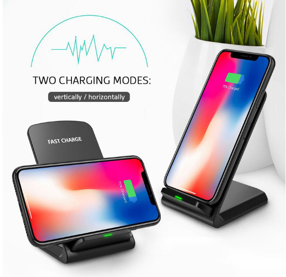 2020 Hot trending Wireless Charger QI 10W Portable Fast wireless stand charger