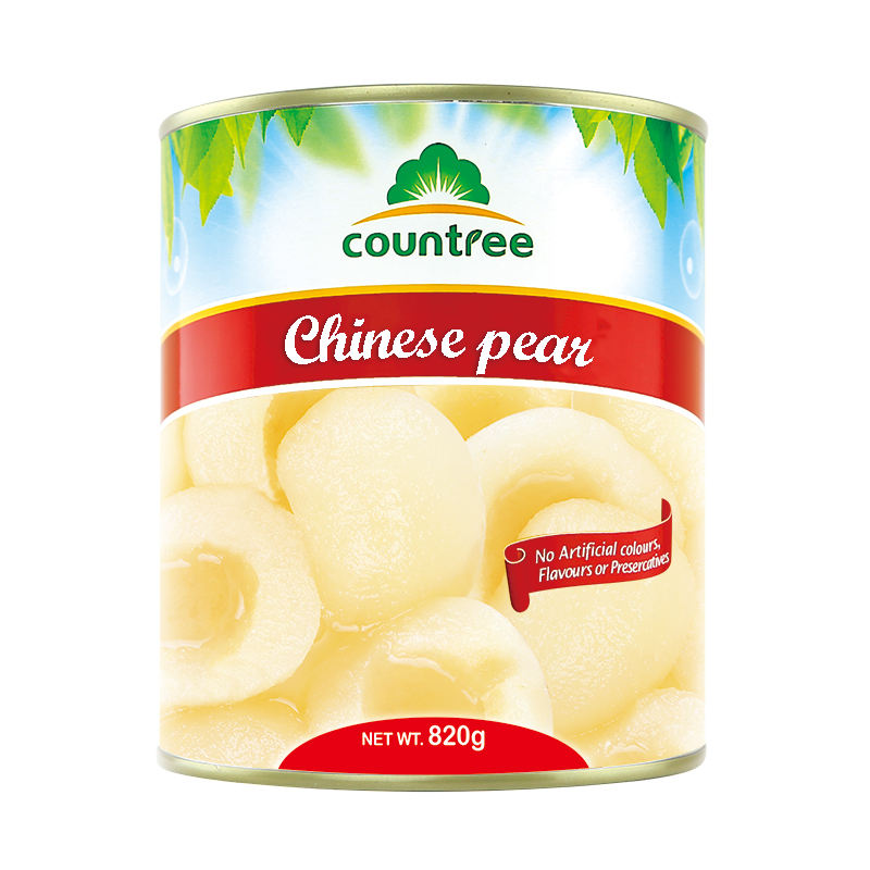 High Quality Preserved Canned Fruits Natural Canned Chinese Pears Canned Pear Slices