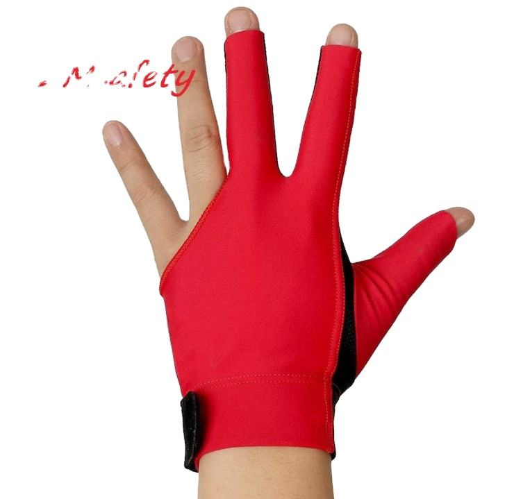 ZMSAFETY Billiard Glove For Carom Sport Anti-Skid Pad 3 Fingers Pool Cue Shooting Shooters Gloves For Left or Right Hand