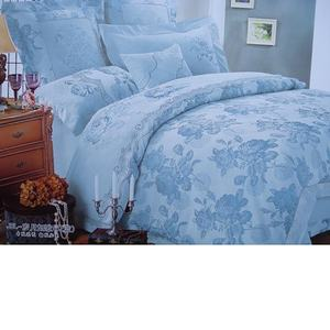 Custom Jacquard Cotton Bedsheet Set In Solid Colors