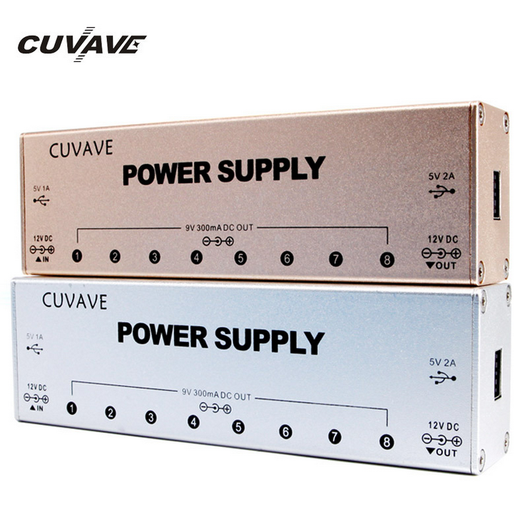 CUVAVE Multi Port Power Supply for Guitar Effect Pedal 9 DC Output Port 2 USB Port