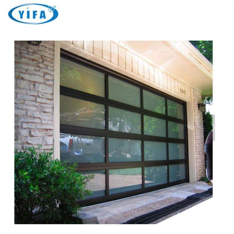 Industrial High Quality Tempered Glass Garage Door Kit/ Window Insert Garage Door