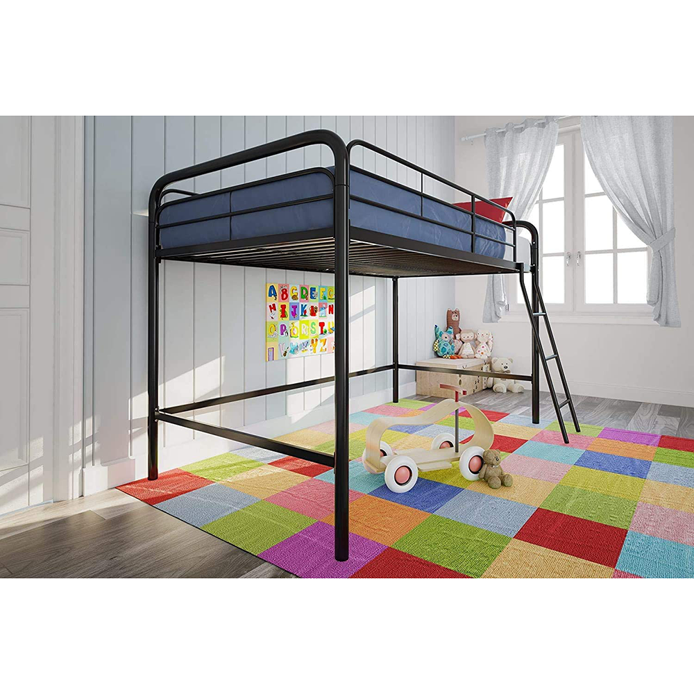 XHL Bunk Metal Child Double Tube Bed Loft Bed Tube Bed