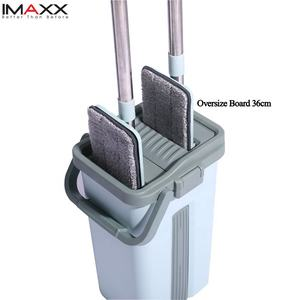 Newest IMAXX Cleaning Mop Magic Flat Bucket Mop with oversize Mop head