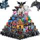 Hot Sale Movie DC Arkham Dark Knight Super Hero Bruce Wayne Justice League Action Building Blocks Educational Toys For Children